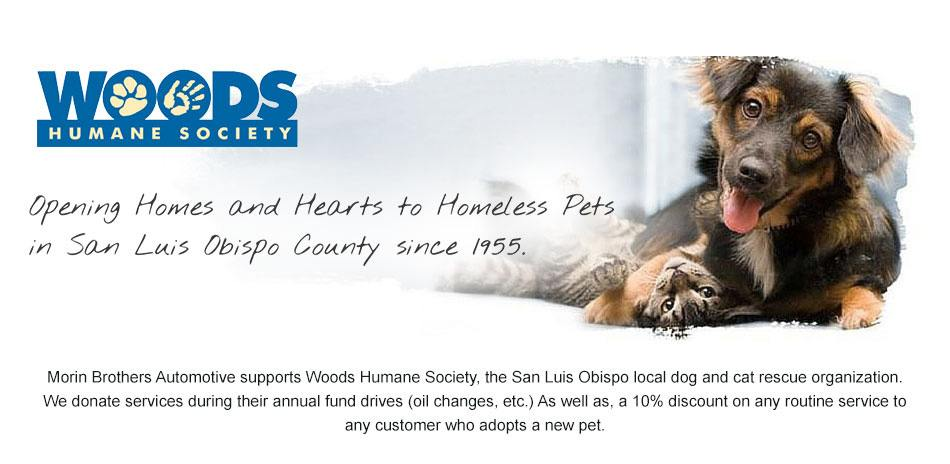 Woods Humane Society banner